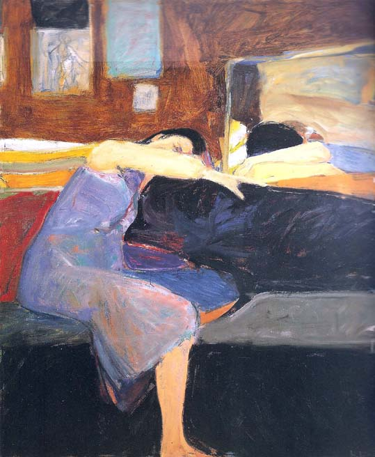 Richard Diebenkorn (1922-1993. Sleeping Woman (1961).