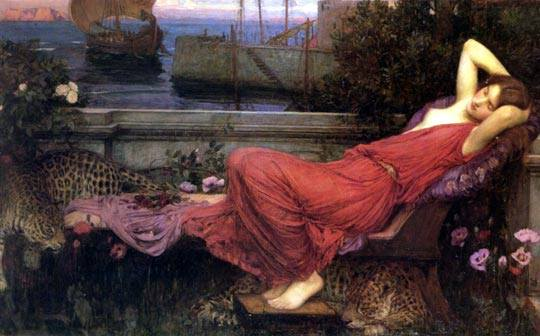 John William Waterhouse (1849-1917). Ariadne (1898).