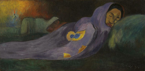 Paul Gauguin (1848-1903). Le rêve, Moe Moea, 1892, collection privée.
