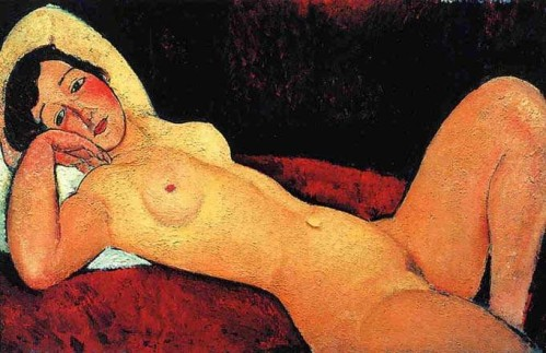 Amedeo Modigliani (1884-1920). Nu allongé dit la rêveuse, 1917, collection privée..