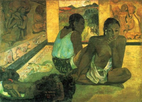 Paul Gauguin (1848-1903) Te Rerioa (Le rêve, la case),(1897), Courtauld Institute Galleries, Londres.