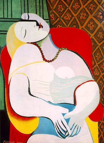 Pablo Picasso (1881-1973). Le rêve (1932),. Collection privée New-York.