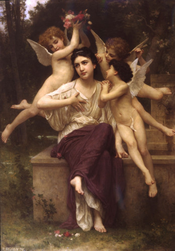 William-Adolphe Bouguereau (1825-1905). Rêve de printemps, 1901.