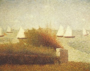 Race in Grandcamp de Georges Seurat, 1885.