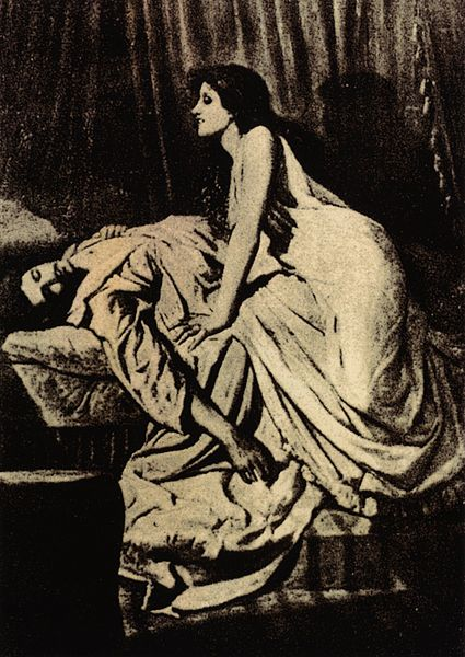 Philip Burne-Jones (1861 – 1926). Vampire succube.