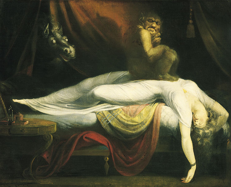 The Nightmare de  Johann Henry Fussli (version de 1781).