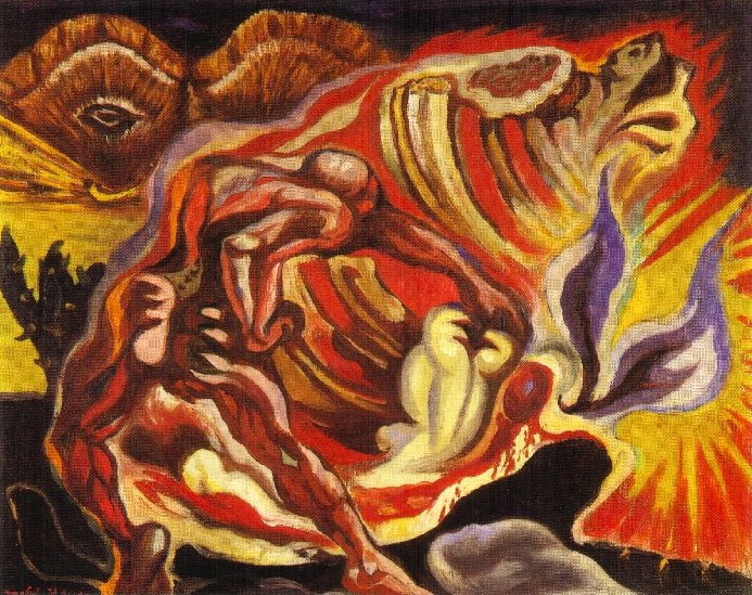 Oedipe pare André Masson 1939.
