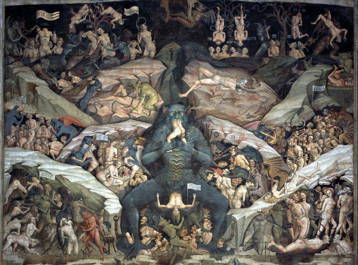 Giovanni da Modena, Inferno, 1410. The Basilica of San Petronio, Bologna.