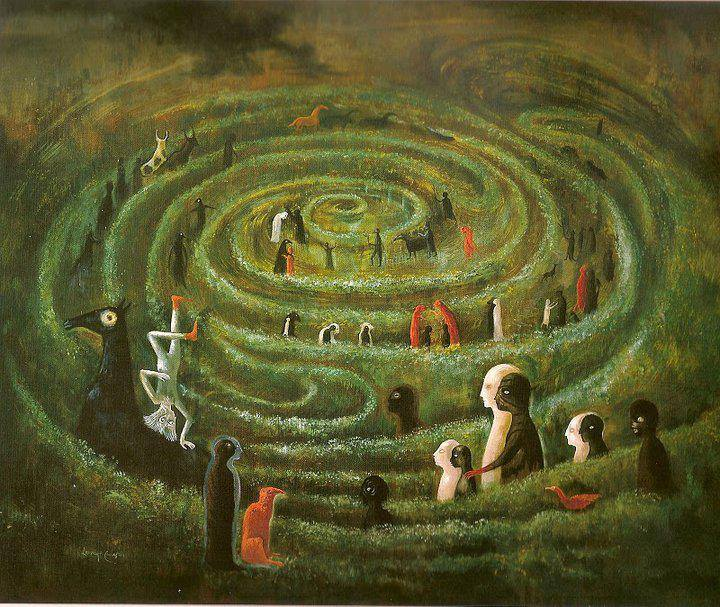 Leonora Carrington (1917-2011). (Labyrinth. (1991) Copyright Estate of Leonora Carrington /ARS.