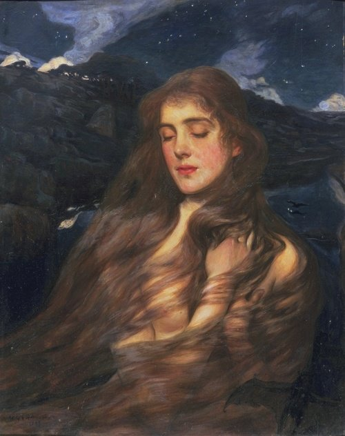 Night [1897] by Wilfred Gabriel de Glehn (1870-1951).