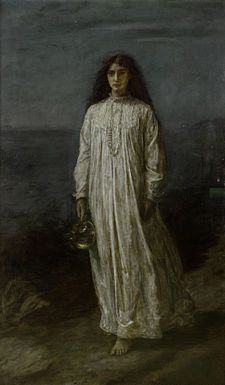 John Everett Millais (1829-1896)- The Somnambulist.