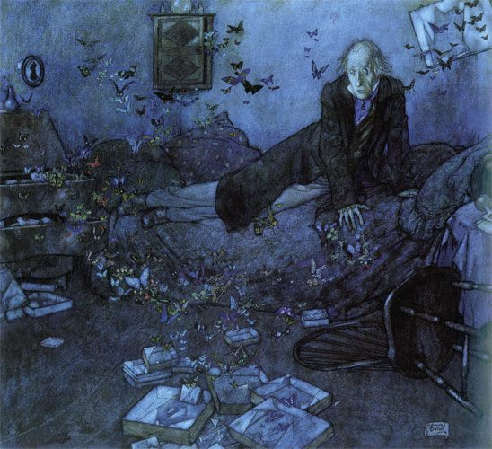 Edmund Dulac (1883-1953) - Entomologist's Dream.