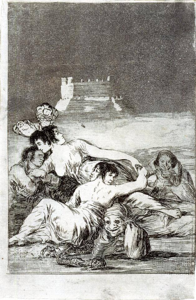Francisco de Goya, Dreams of Lies and Inconstancy, 1797-98.