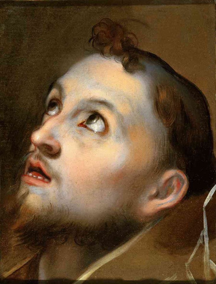 Federico Barocci (Il Baroccio), Study for the Head of Saint Francis, late 16th century.