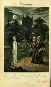 John Dee and Edward Kelley - Illustration de 1806