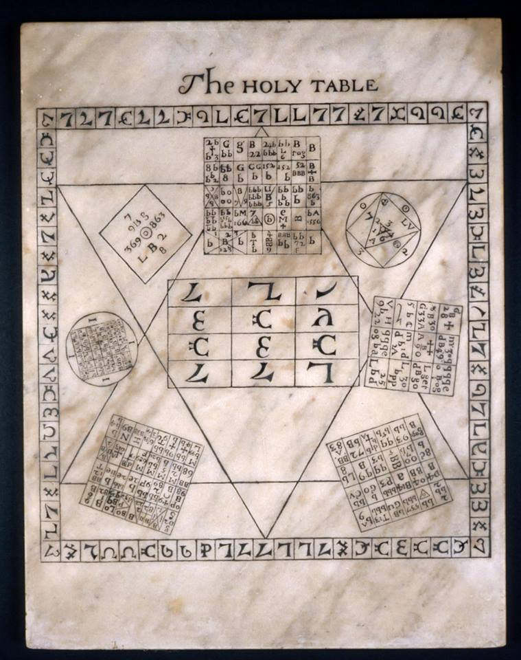 John Dee's Holy Table of 1582, English, Late 17th Century.
