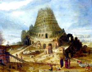 Marten Van Valckenborch (1535-1612- -  Construction de la Tour de Babel (1580).