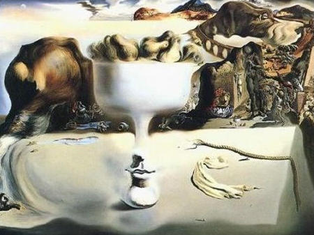 Salvador Dali - Apparition d'un visage.