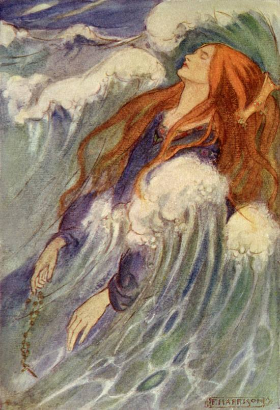 Emma Florence Harrison (1877-1955). - Dreamland - iIllustration to The Poems of Christina Rossetti.