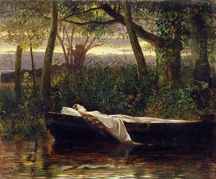 Walter Crane (1845)195) - The Lady of Shalott.