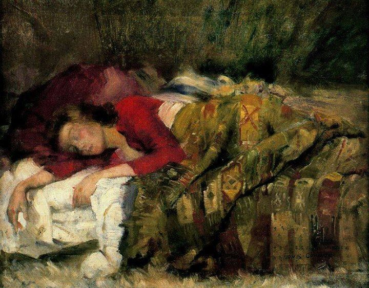 Lovis Corinth - Young Woman Sleeping.