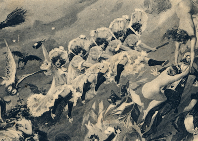 Champagne drinking Witches, (1902).